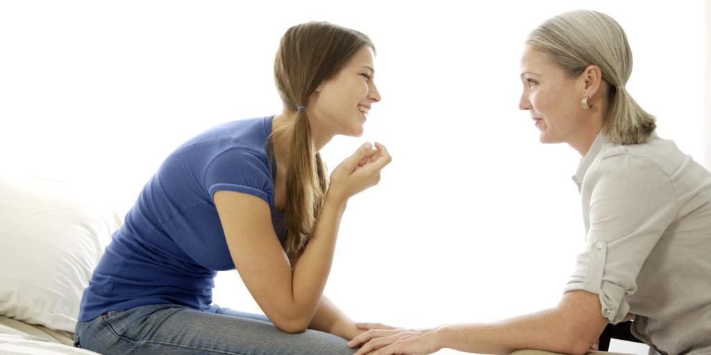 разговор матери и дочери