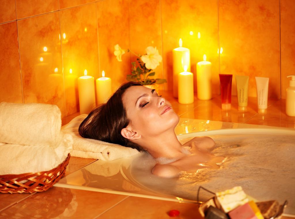 Примите расслабляющую ванную